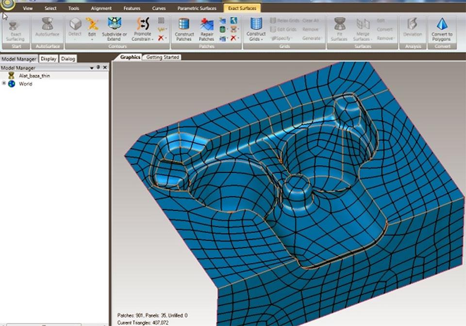 Konstruiranje NURBS površina u GeoMagic-u