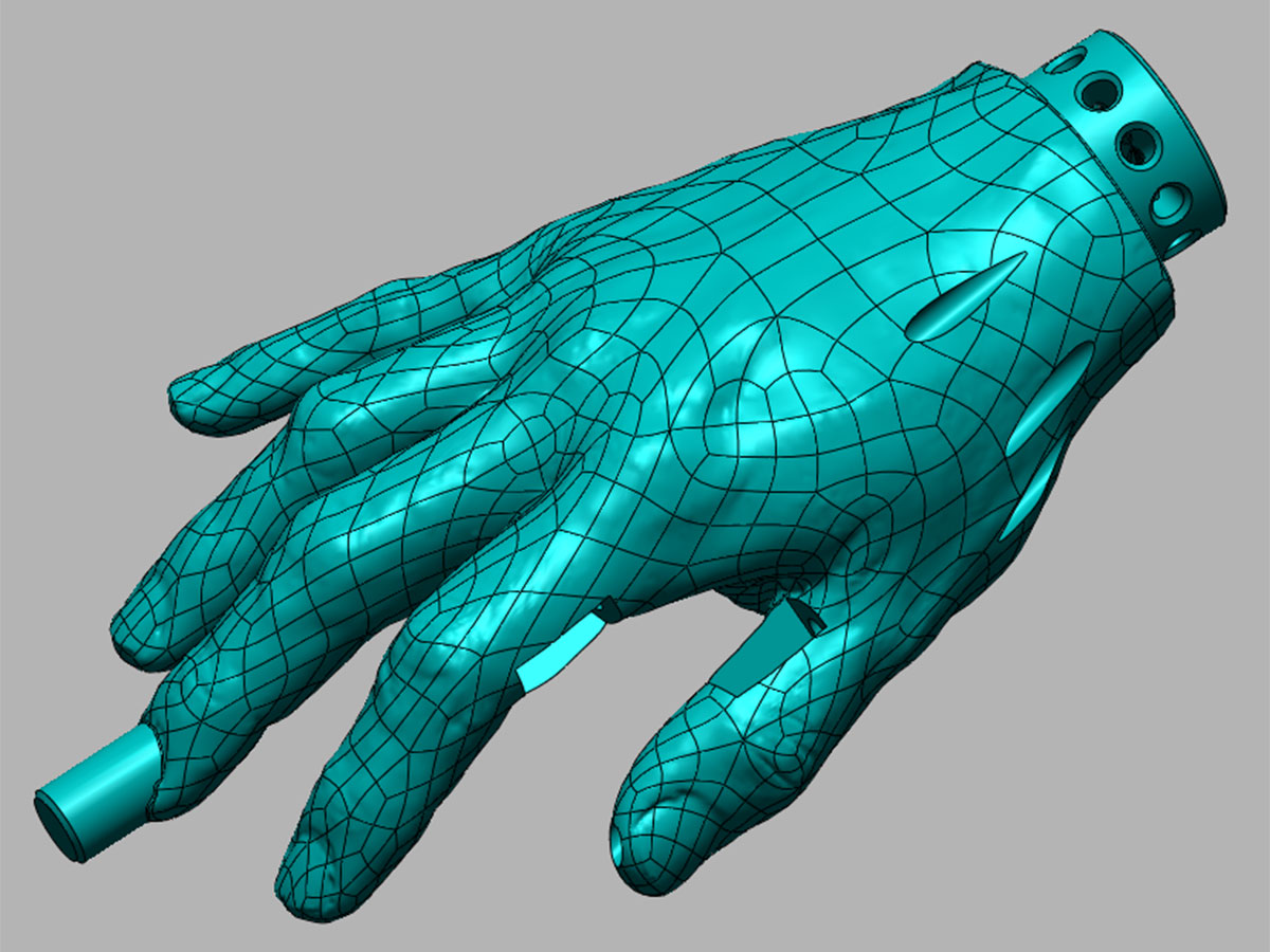 Naprava za simulaciju šivanja vena na rukama